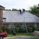 A completed roofing job well done at Metal Master Roofing Arlington TX